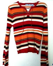 Mudd Striped Ladies Juniors Top Sz XL - 55% Ramie - 45% Cotton - Hand Wash