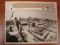 Vintage Glossy Press Photo Downtown Natick MA Morse Building Slate Roof 6/14/83