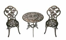 Beautiful 3-Piece Rose Bistro Set with 23.5-Inch Cast aluminum Top Table New!