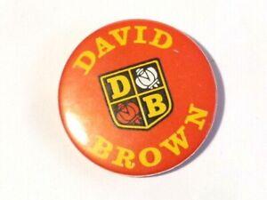 Vintage  David Brown DB TRACTOR Brand Advertising Pin Badge #B33