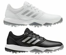 New adidas Junior Tour CP Traxion Water Repellent Golf Shoes Black - White