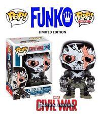 Funko POP-MARVEL-CIVIL WAR-Crossbones Battle Damage-personaggio in vinile Nuovo/Scatola Originale