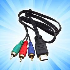 100cm HDMI a 3RCA RGB MACHO AV Video Adaptador de audio cable para HDTV