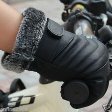 Men  Outdoor Non-Slip touch screen large cotton Gloves  Sports Leather