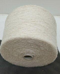 Wolle Garn Stricken weben Bouclé weiß schurwolle-mixlhandstrickgarn 1,3kg bp50