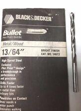 "6 PCS. 13/64"" BLACK & DECKER BULLET DRILL BITS - PILOT POINT- HS - BRIGHT FINISH"