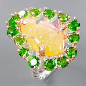 Handmade Design Aquamarine Ring Silver 925 Sterling  Size 7.75 /R176639