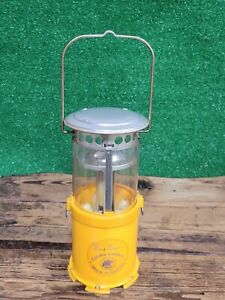 Vintage Fred Bear Archery Bow Emergency Light 24 Hour Collapsable Candle Lantern