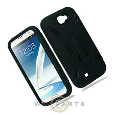 Samsung N7100 Note 2 Armor Case Black Cover Shell Protector Guard Shield