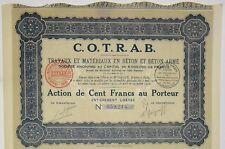 COTRAB travaux et matériaux en béton armé 1932 (Grenoble) (59214)