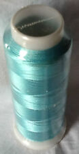 Embroidery Machine Viscose Rayon Silk Threads 2500 Yards Each Buy 2 & Get 1 Sky Blue