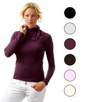 Lupetto Donna in Lana rosa nero panna maglia maglioncino Sensì Made in Italy