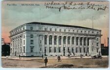 MUSKOGEE, Oklahoma  OK  Handcolored POST OFFICE  1910    Postcard