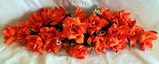 ORANGE SWAG ~ Silk Wedding Flowers Roses Arch Gazebo Decorations Centerpieces