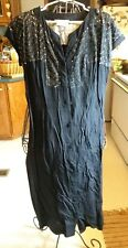 40's vintage black cotton Jack Squire Original button down dress Nice!