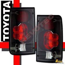 1989-1995 Toyota Pickup Tail Lights Lamps Black 1 Pair 90 91 92 93 94