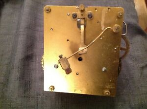 Antique Haller Clock Movement Two Train Chiming Chime 12cm plates Untested parts