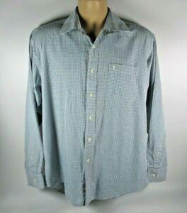 Yves saint Laurent Long Sleeved Blue checkered shirt ysl Size 15.5 collar
