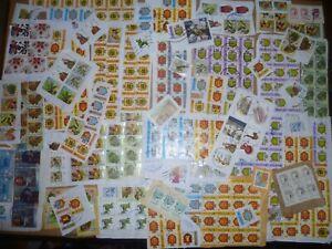 40 grams mixtures Ukraine stamps on single paper kiloware