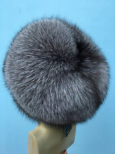 Silver Blue Frost Fox Fur Full Hat. Saga Furs Regular Women's Size All Fur Hat