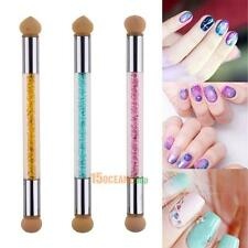 3X Glitter Powder Dotting Gradient Pen Double Sponge Head Brush Acrylic Nail art