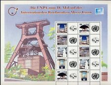 UN Vienna . 2008 Essen Messe Personalized Sheet . Mint Never Hinged