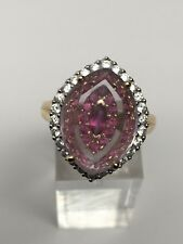 Richard Palermo 14K Yellow Gold Pink Amethyst and Hidden Gem Ring Size 9