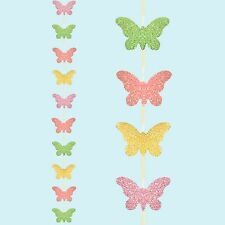 Easter Arts & Craft, Bonnet Decorations, Egg Hunt - Glitter Butterfly 2M Garland