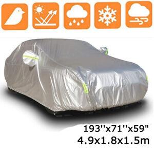 XL Universal Full Car Cover Waterproof Dust Outdoor UV Sun Protection For Sedan