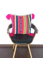 Cushion cover made from recycled handmade by loom vintage Peruvian fabric AM1