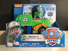 Paw Patrol ROCKY'S RECYCLING TRUCK  With Forklift That Rotates Back Opens