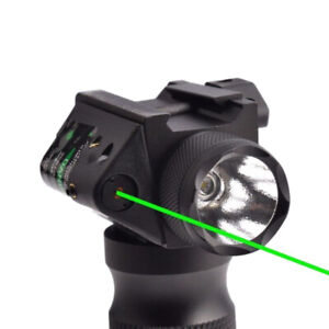 Combo Tactical Green Laser Sight LED FlashLight For 20mm Picatinny Rail Mount