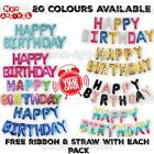 Happy Birthday Balloons Banner Balloon Party Self Inflating Bunting Letter Foil