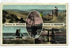 1 postkaart Bredene Bredene Bonjour De Bredene Beach Color