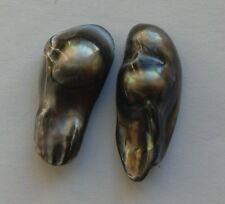 2 iridescent gris eau douce perle baroque perles 20 mm Bijoux/Artisanat
