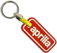 APRILIA RED WHITE 3D LOGO Rubber Material Metal Keyring Keychain Motorbike