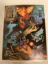 Vintage 80's Sticker Dungeons and Dragons 1983