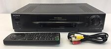 Sony SLV-740HF VCR Video Cassette Recorder VHS Player w/ Remote & FREE SHIPPING