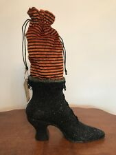 Bethany Lowe Witch's Boot Candy Container--Large Size--Retired