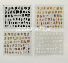 3D Nail Art Stickers Adhesive Transfer Alphabet Letter Series 4 Colors US seller
