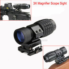 """3x Magnifier Rifle Scope Sight w/Flip-to-Side 7/8"""" Mount for Bird Watching BH"""