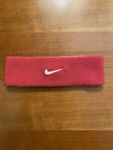 Unisex Nike Swoosh One Size Reversible Headband Red/White