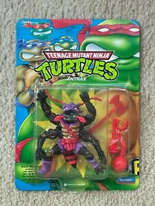 TMNT 1992 Ninja Turtles Antrax Action Figure Toy Green Card MOC Sealed RARE!