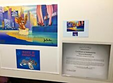 Hanna Barbera Tom And Jerry Cel Mouse In Manhattan Rare Number 1 Artist Proof