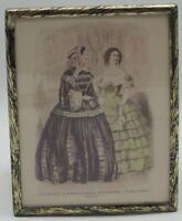 Antique 1855 Godey's Lady's Book Fashion Advertising Print Lithograph