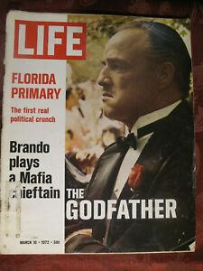 LIFE Magazine March 10 1972 3/10/72 MARLON BRANDO THE GODFATHER