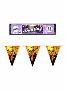 Halloween PVC Bunting length 3.6m with 11 Pennants