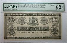 CANADA Halifax Bank of British N. America 10 Dollars 1871 PROOF PMG 62 NET RARE