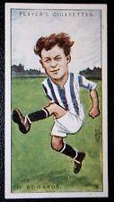 Leeds United   Chesterfield  & England  Edwards     Vintage Footballer Card