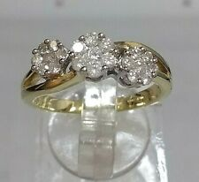 .50ct Diamond Cluster Engagement Ring 9ct Yellow Gold Stunning